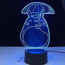 Tatapai 3D Illusion Lamp Totoro My Neighbor Led