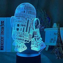 Tatapai 3D Led Night Light R2 D2 Robot Night Light