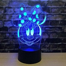 Tatapai 3D Minnie Mouse Night Light Illusion Lamp