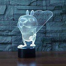 Tatapai Festival 3D Led Squirrel Lighting Touch 7