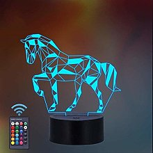Tatapai Horse Gifts for Girls 3D Night Light
