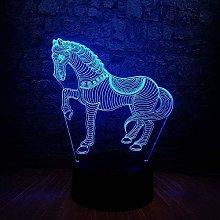 Tatapai Novelty 7 Color Pentium Horse 3D LED Desk