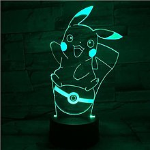 Tatapai Pokemon Pikachu Figure 3D Night Light 7