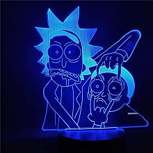 Tatapai Rick and Morty Led 3D Night Light Cartoon