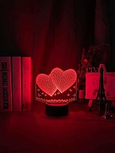 Tatapai Romantic 3D Night Light Adult Heart-Shaped