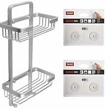 Tatay Aluminium Double Basket Shower Caddy and