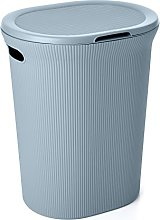 TATAY Laundry Basket with Lid 41 x 33 x 50 blue