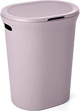 TATAY Laundry Basket with Lid 41 x 33 x 50 lilac