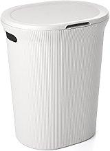 TATAY Laundry Basket with Lid 41 x 33 x 50 white