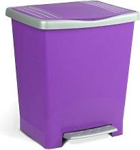 TATAY Millenium Pedal Dustbin, Purple, One Size