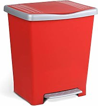 TATAY Millenium Pedal Dustbin, Red, One Size
