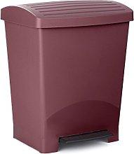 TATAY Optimist Pedal Dustbin, 25 L, Purple, One
