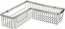TATAY Rectangle Corner Storage Basket, Aluminum