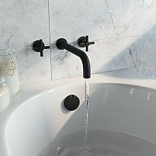 Tate black wall mounted bath mixer tap - Mode