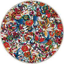Tatoo Placemat - / Ø 38 cm - Vinyl by PÔDEVACHE
