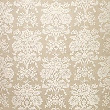 Tatton Damask Design Floral Metallic Flowers