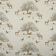Tatton Fryetts Woodland Fox Stag Deer Cotton