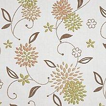 Taupe and Green Floral Elderflower PVC Vinyl