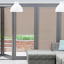 Taupe BiFold Door Blind