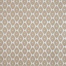 Taupe Geometric Ovals PVC Vinyl Oilcloth Wipe