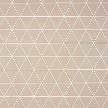 Taupe Geometric Triangles PVC Vinyl Wipe Clean