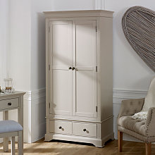 Taupe-Grey Double Wardrobe - Davenport Taupe-Grey