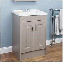 Taupe Grey Floor Standing Bathroom Cabinet 600mm