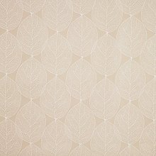 Taupe Large Leaf PVC Vinyl Oilcloth Wipe Clean