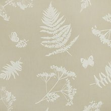 Taupe Moorland Floral Design PVC Oilcloth Wipe