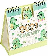 TAYHEE 2021 Mini Desk Calendar Cute Cartoon Animal