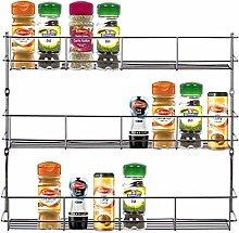Taylor & Brown 3 Tier Chrome Spice Herb Jar Rack
