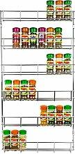 Taylor & Brown 6 Tier Chrome Spice Herb Jar Rack
