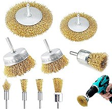 Taylor & Brown 9pc Wire Brushes Drills Set, Brass