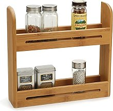 Taylor & Brown® Bamboo 2 Tier Spice Herb Jar Rack
