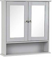 Taylor & Brown Grey Double Door Mirrored Bathroom