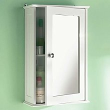 Taylor & Brown® White Maine Single Mirrored Door