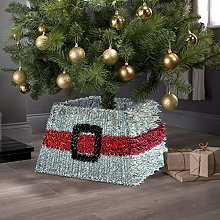 Taylor & Brown® Xmas Christmas Tinsel Tree Skirt
