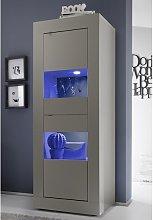 Taylor Display Cabinet In Matt Beige With 2 Doors