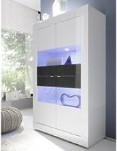 Taylor Display Cabinet Wide In White Anthracite