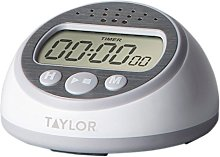 Taylor Precision Products Kitchen Timer, Gray,
