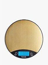 Taylor Pro Digital Round Kitchen Scale, 5kg, Brass