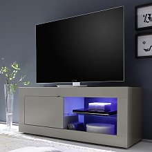 Taylor TV Stand In Matt Beige With 1 Door And LED
