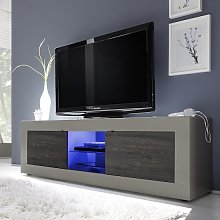 Taylor TV Stand Large In Matt Beige And Wenge With