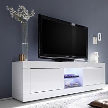 Taylor TV Stand Large In White High Gloss With 2