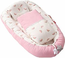 TAYNBYLN Baby Nest Bed Quilt Sets,Portable Cotton