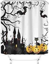 Taysta Shower Curtain Curtains Happy Halloween