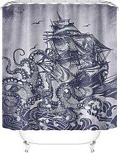 Taysta Shower Curtain Curtains Japanese Retro Dark