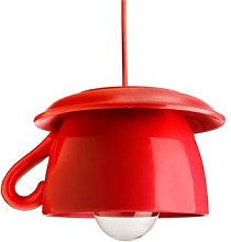 Tazza - red ceramic hanging light for the kitchen