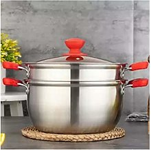 TBAO Soup Pot Steamer Stainless Steel Single Layer