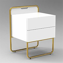 Tbaobei-Baby Bedside Table 2 Drawer Bedside Table